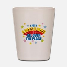 I Just Awesomed Shot Glass