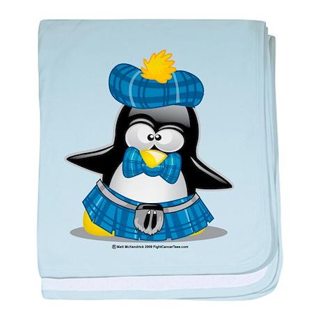 Penguin Blue Kilt baby blanket