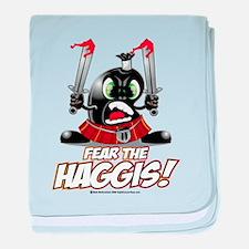 Fear The Haggis! baby blanket