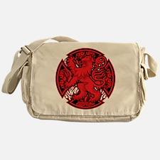 Scottish Iron Cross Red Messenger Bag