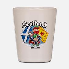 Scotland Flag & Piper Shot Glass