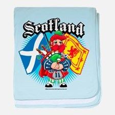 Scotland Flag & Piper baby blanket