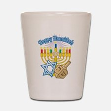 Happy Hanukkah Shot Glass