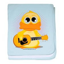 Acoustic Guitar Duck baby blanket