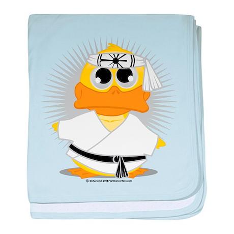 Karate Duck baby blanket