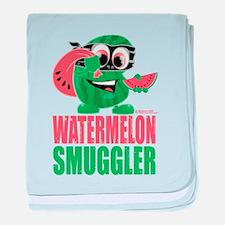 Watermelon Smuggler baby blanket