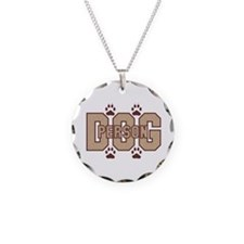 Dog Person Necklace Circle Charm