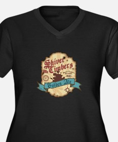 Unique Shiver me timbers Women's Plus Size V-Neck Dark T-Shirt