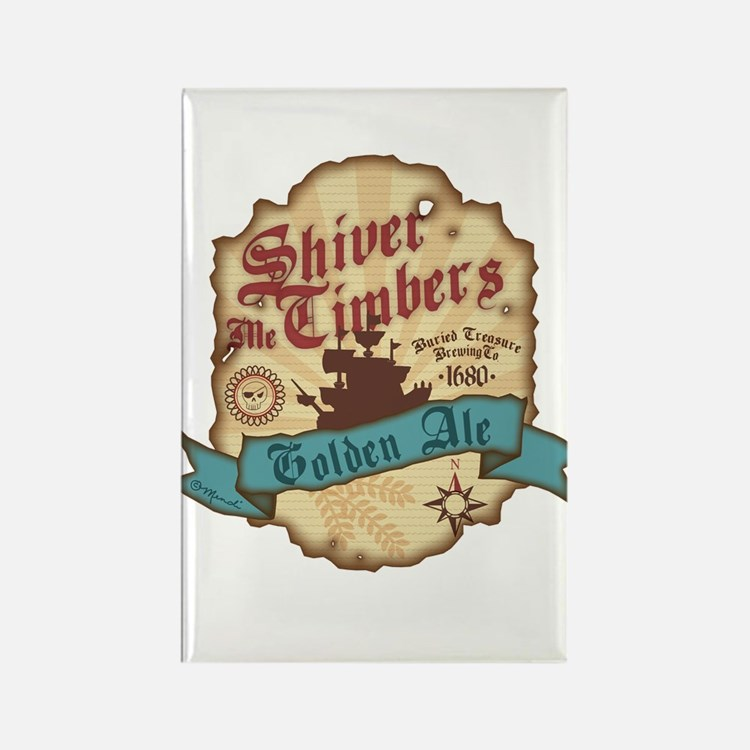Cute Shiver me timbers Rectangle Magnet
