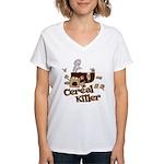 Cereal Killer Women's V-Neck T-Shirt