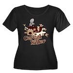 Cereal Killer Women's Plus Size Scoop Neck Dark T-