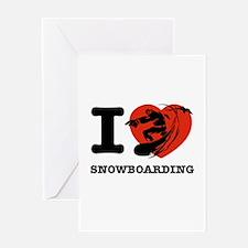 I love Snow boarding Greeting Card