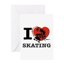 I love Skate boarding Greeting Card