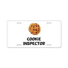 Cookie Inspector Aluminum License Plate