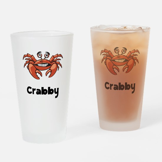Crabby Crab Drinking Glass