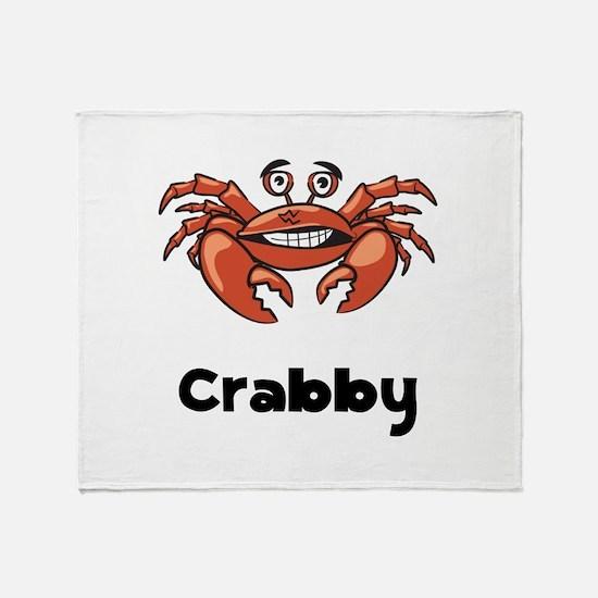 Crabby Crab Throw Blanket