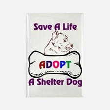 Save A Life Adopt A Shelter D Rectangle Magnet
