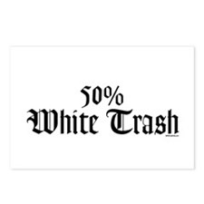 50% White Trash Postcards (Package of 8)