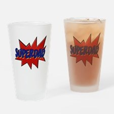 Super hero dad Drinking Glass