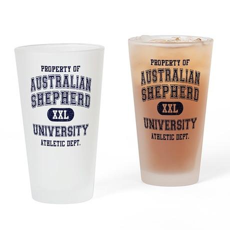 Australian Shepherd Drinking Glass