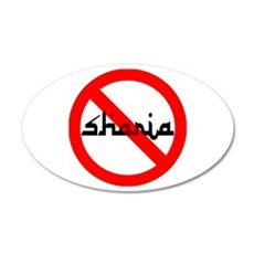 NOBAMA NO SHARIA 22x14 Oval Wall Peel