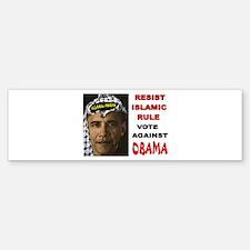 NOBAMA NO SHARIA Sticker (Bumper)