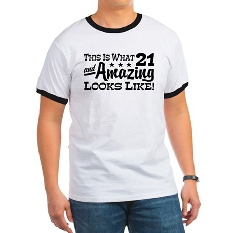 Funny 21st Birthday Ringer T