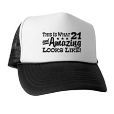Funny 21st Birthday Trucker Hat