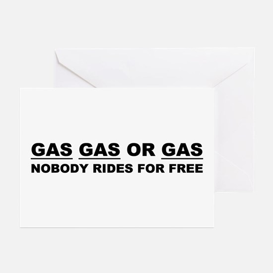GAS GAS OR GAS Greeting Cards (Pk of 10)