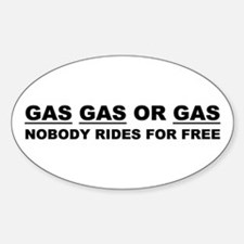 GAS GAS OR GAS Oval Decal
