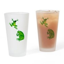 frogs Drinking Glass