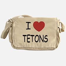 I heart tetons Messenger Bag