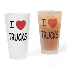 I heart trucks Drinking Glass