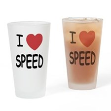 I love speed Drinking Glass
