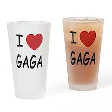 I heart gaga Drinking Glass