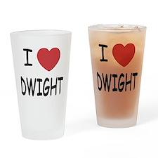 I heart dwight Drinking Glass