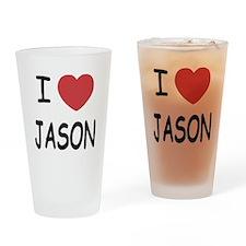 I heart jason Drinking Glass