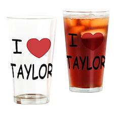 I heart taylor Drinking Glass