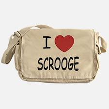 I heart Scrooge Messenger Bag