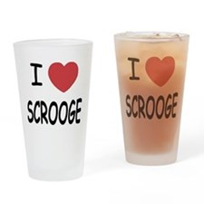 I heart Scrooge Drinking Glass
