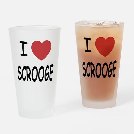 I heart Scrooge Drinking Glass