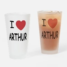 I heart Arthur Drinking Glass
