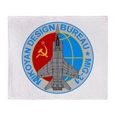 Mig-31 Foxhound Throw Blanket