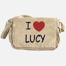 I heart Lucy Messenger Bag