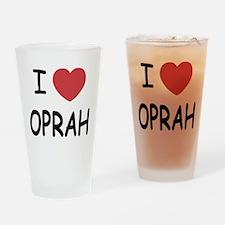 I heart Oprah Drinking Glass