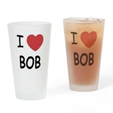 I heart Bob Drinking Glass