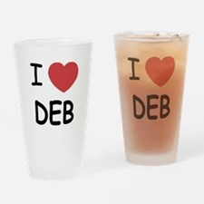 I heart Deb Drinking Glass
