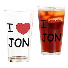 I heart Jon Drinking Glass