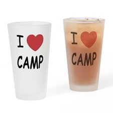 I heart camp Drinking Glass