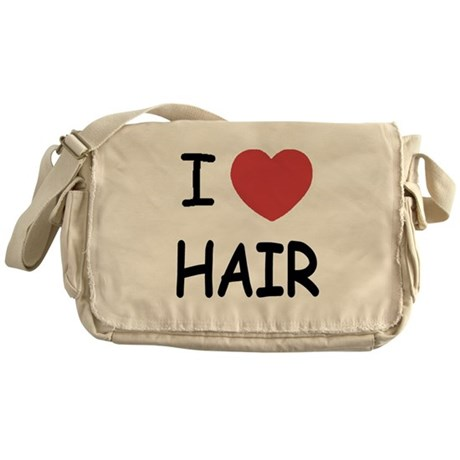 I heart hair Messenger Bag